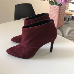 Zara dark red ankle booties